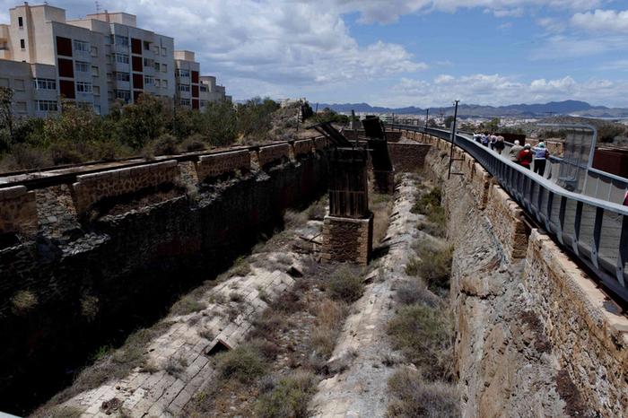 Águilas, Route of the railways