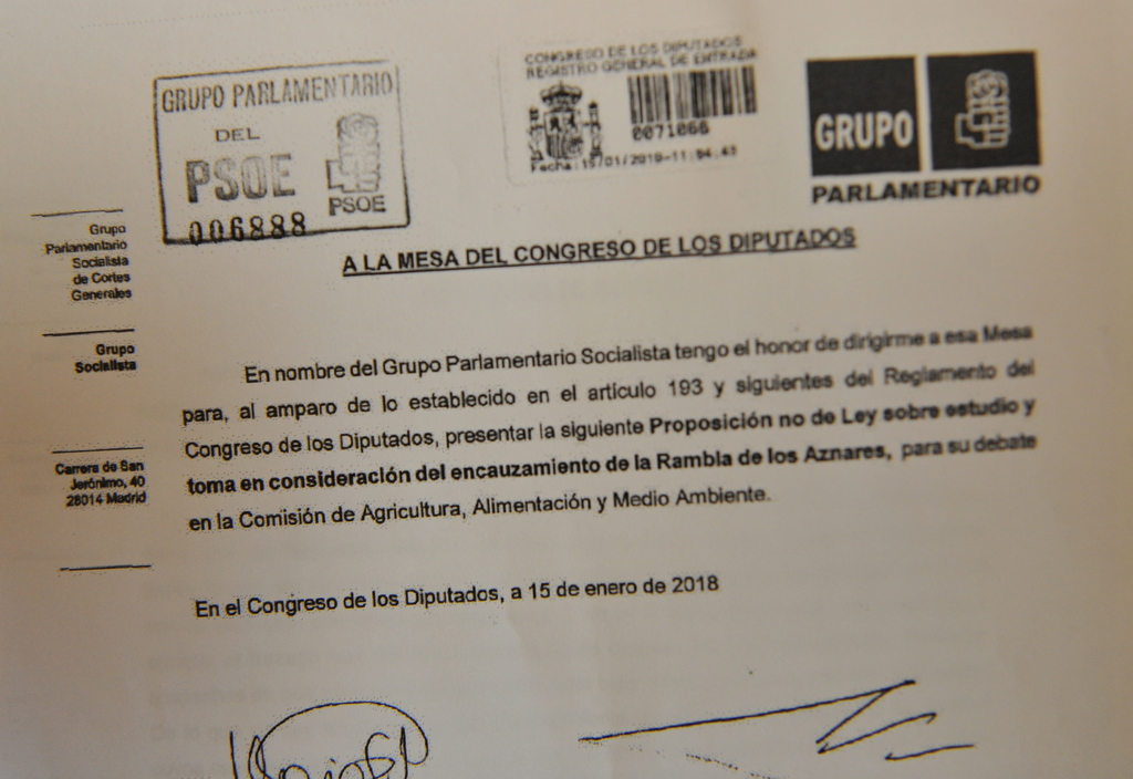 Provisional Agreement To Divert Rambla On Camposol
