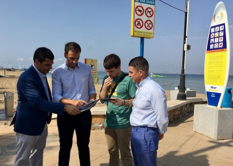 """<span style='color:#780948'>ARCHIVED</span> - Playa Mistral becomes one of the first two """"smart beaches"""" in La Manga"""