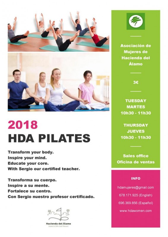 <span style='color:#780948'>ARCHIVED</span> - Tuesday and Thursday Pilates on Hacienda del Álamo