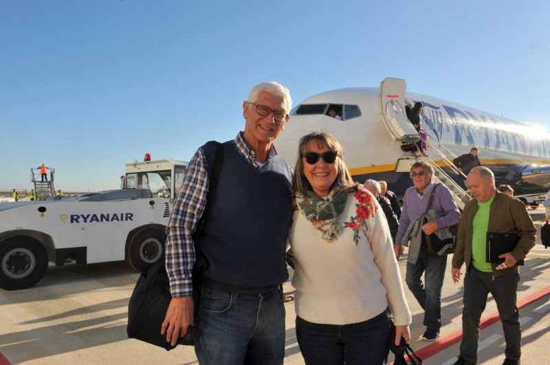 <span style='color:#780948'>ARCHIVED</span> - Annie and Peter make history as the first passengers into Corvera airport