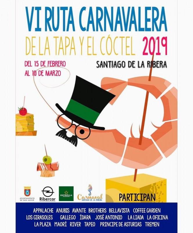 15th February to 10th March 2019 Carnival Tapas route in Santiago de la Ribera
