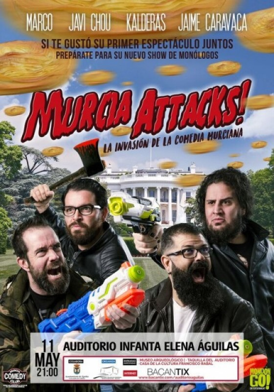<span style='color:#780948'>ARCHIVED</span> - 11th May Spanish language humour in Águilas: Murcia Attacks!