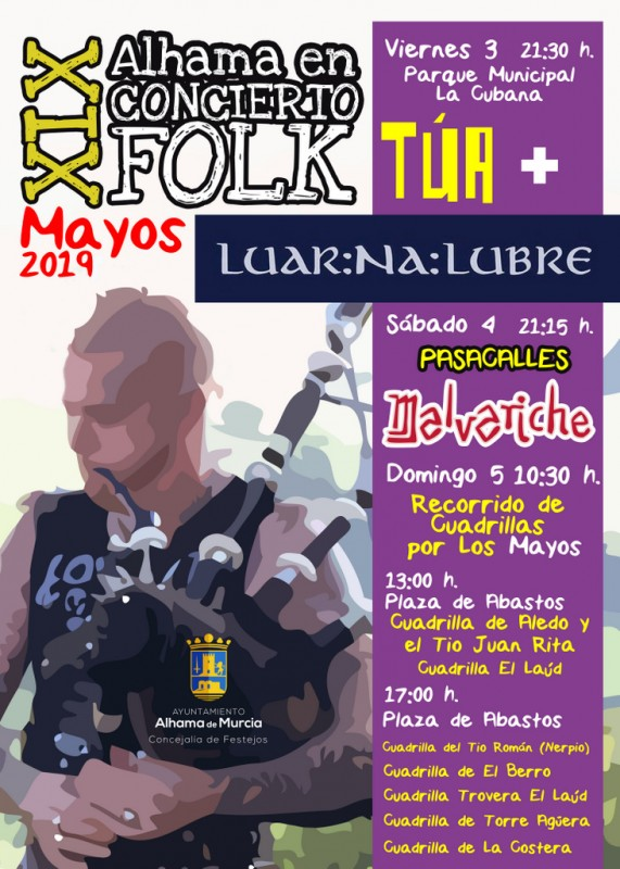 <span style='color:#780948'>ARCHIVED</span> - 3rd to 5th May 2019: Free Folk in Alhama de Murcia as part of Los Mayos