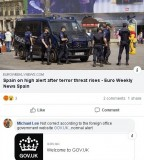 Fake news – the terrorist attack alert in Spain has NOT been raised to severe