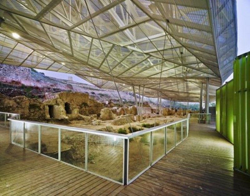 The Roman Forum District museum in the Molinete archaeological park in Cartagena