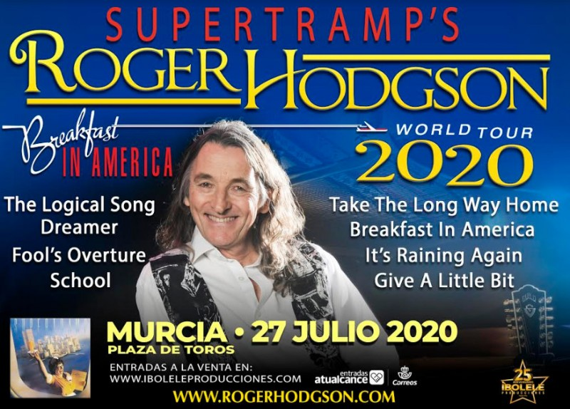 <span style='color:#780948'>ARCHIVED</span> - 27th July, Roger Hodgson of Supertramp in concert in Murcia