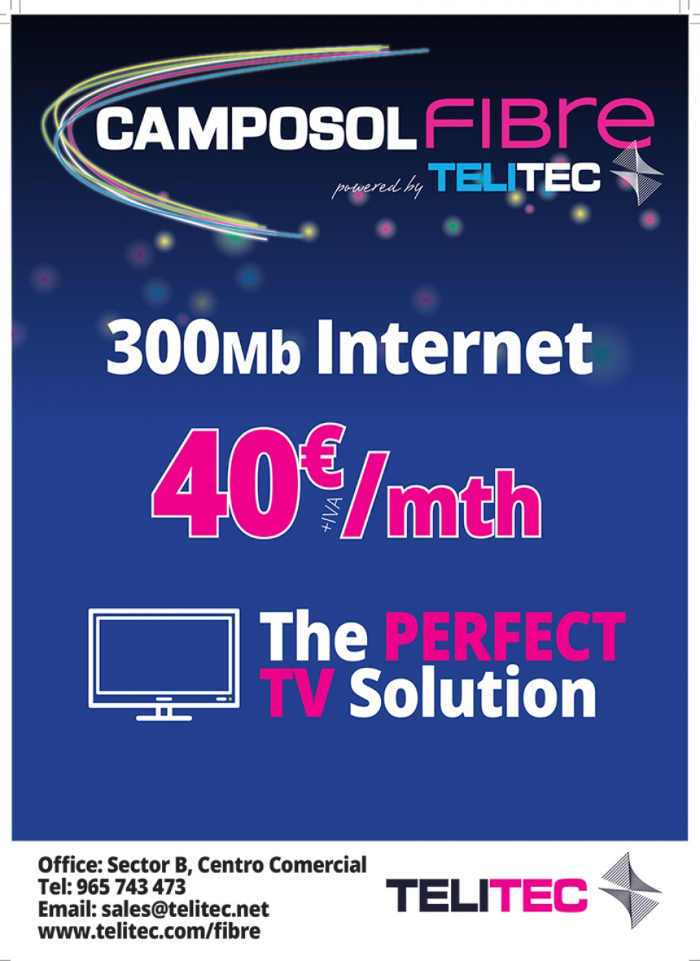 Telitec High Speed Internet and UK TV Supplier, Camposol