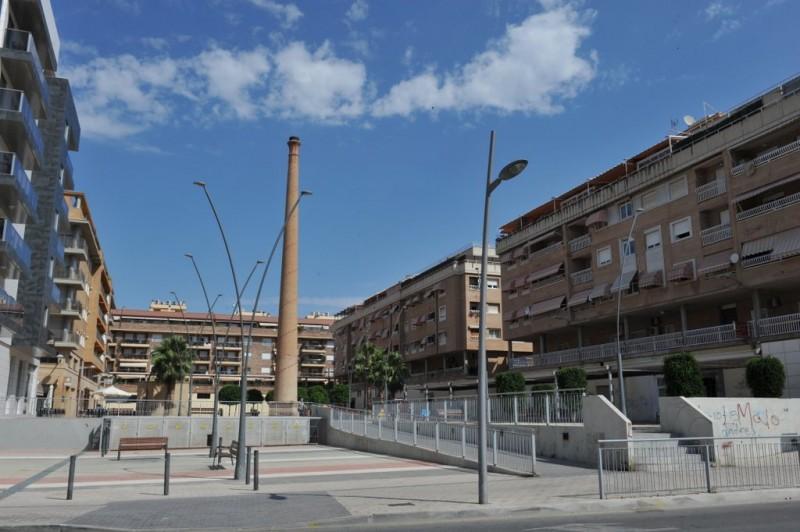 The industrial chimneys of Molina de Segura