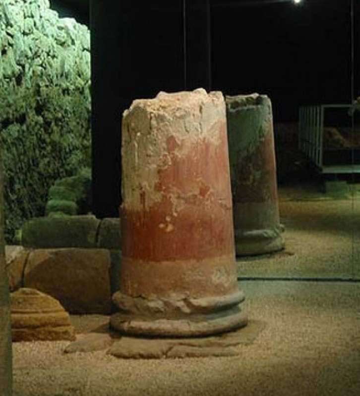 The Augusteum, a Roman temple in Cartagena dedicated to the Emperor Augustus