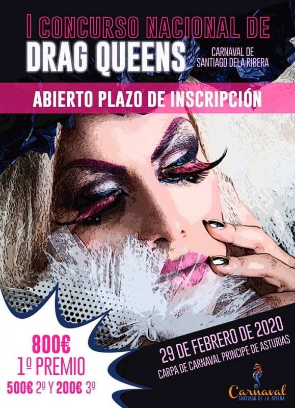 <span style='color:#780948'>ARCHIVED</span> - 29th February Drag Queen competition Santiago de la Ribera Carnival