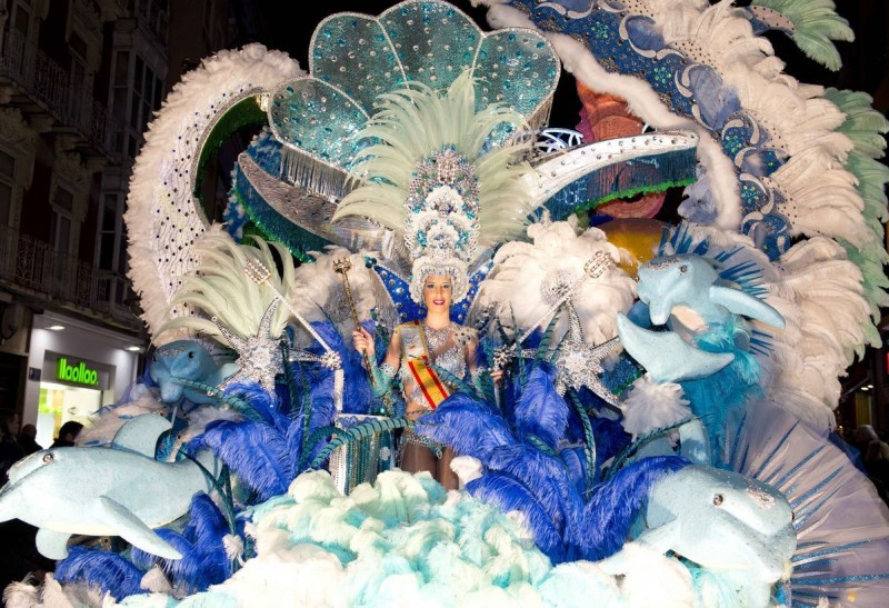 Saturday 22nd February Main parade in Cartagena Carnival