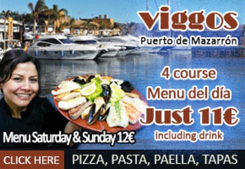 Viggos restaurant offer top value in the Puerto de Mazarrón