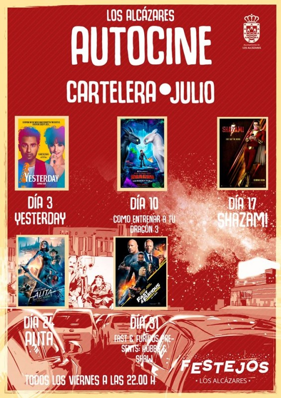 Every Friday in July and August Los Alcázares Autocine