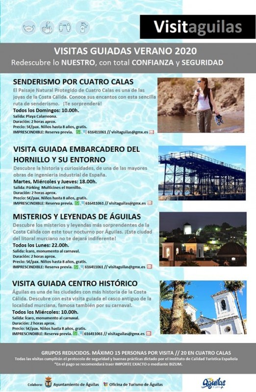 Águilas offers guided walks and visits throughout the summer