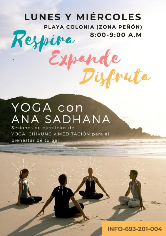 Monday and Wednesday; Yoga on the beach in Águilas