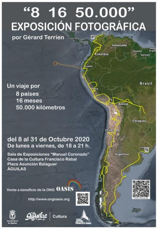 Gérard Terrien photographic exhibition 8th to 31st October Águilas