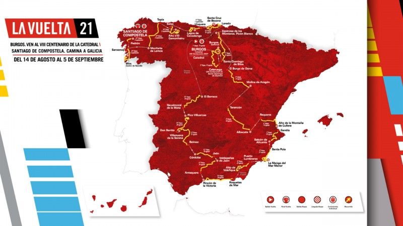 <span style='color:#780948'>ARCHIVED</span> - 2 stages of the 2021 cycling Tour of Spain in the Region of Murcia