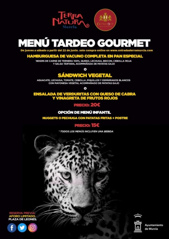 <span style='color:#780948'>ARCHIVED</span> - Nocturnal evenings with meal included at Terra Natura Murcia this summer