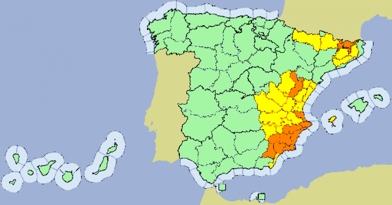 <span style='color:#780948'>ARCHIVED</span> - Murcia weather alert July 26: The entire Region on orange alert for storms