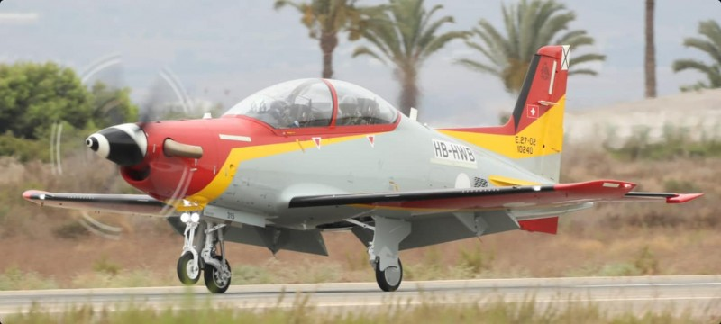 <span style='color:#780948'>ARCHIVED</span> -  Two new Swiss Pilatus trainers arrive at San Javier Air Academy to replace veteran C-101