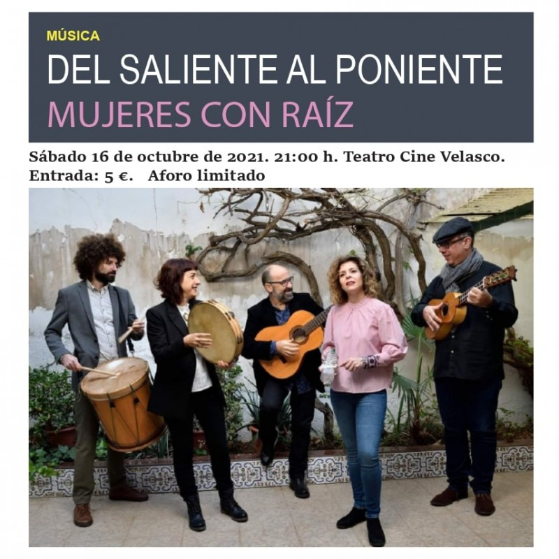 <span style='color:#780948'>ARCHIVED</span> - Concert by Mujeres con Raíz in Alhama de Murcia: October 16