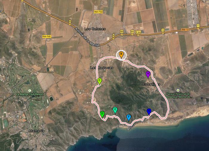 8-kilometre geological walk around Cabezo de la Fuente in Calblanque regional park