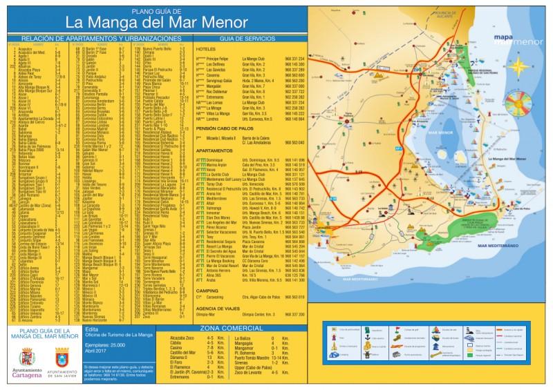 Street map for La Manga del Mar Menor