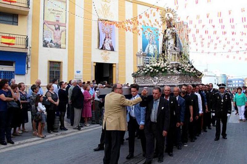 The church of Nuestra Señora del Rosario in Puerto Lumbreras