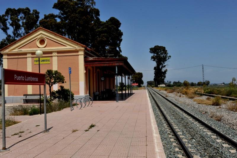 The railway station of Puerto Lumbreras
