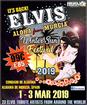 Elvis Winter Sun Festival Banner 2019.
