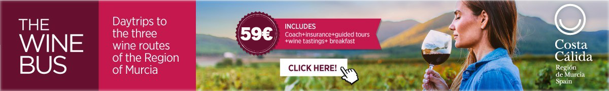 Murcia Turistica Wine Bus banner WHATS ON