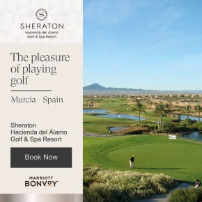 Sheraton pleasure playing Golf Banner
